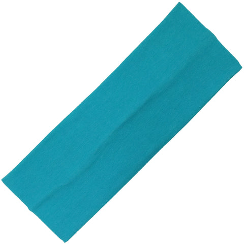 Wide Cotton Headband Soft Stretch Headbands Sweat Absorbent Elastic Head Band Teal
