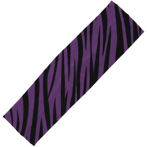 Cotton Headband Soft Stretch Headbands Sweat Absorbent Elastic Head Band Zebra Purple