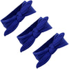 Knotted Bow Cotton Stretch Headbands Blue 3