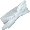 Knotted Bow Stretch Headband White 1