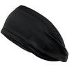 Performance Headband Moisture Wicking Athletic Sports Head Band Black