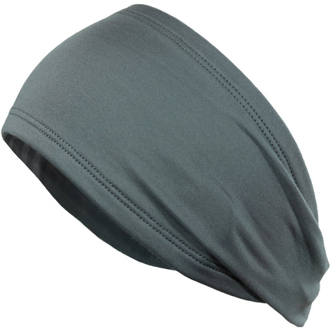 Performance Headband Moisture Wicking Athletic Sports Head Band Gray