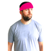 Performance Headband Moisture Wicking Athletic Sports Head Band Hot Pink