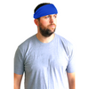 Performance Headband Moisture Wicking Athletic Sports Head Band Blue