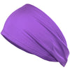 Performance Headband Moisture Wicking Athletic Sports Head Band Purple