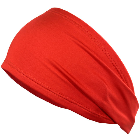 Performance Headband Moisture Wicking Athletic Sports Head Band Red