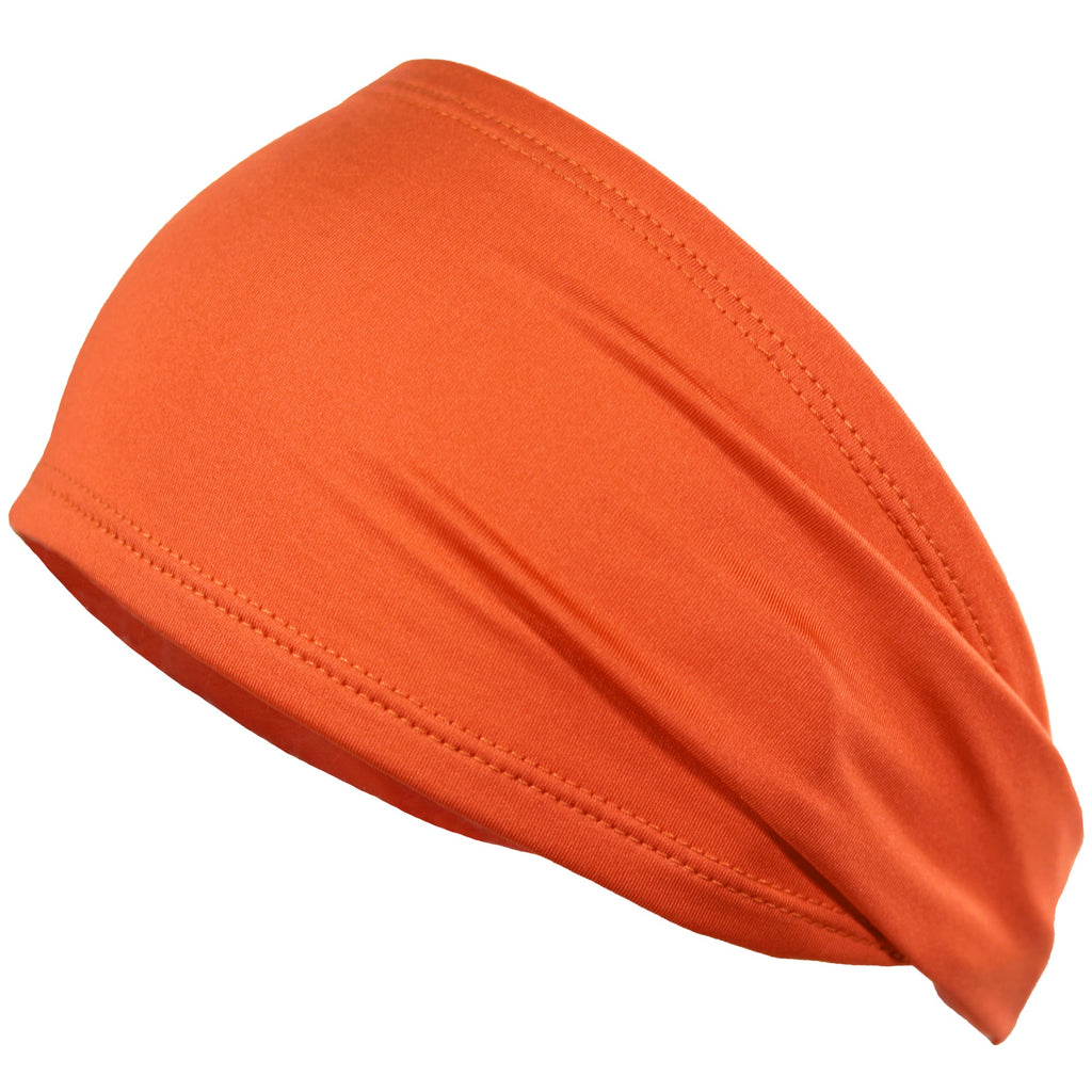 Performance Headband Moisture Wicking Athletic Sports Head Band Orange