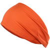 Performance Headband Moisture Wicking Athletic Sports Head Band Red Orange