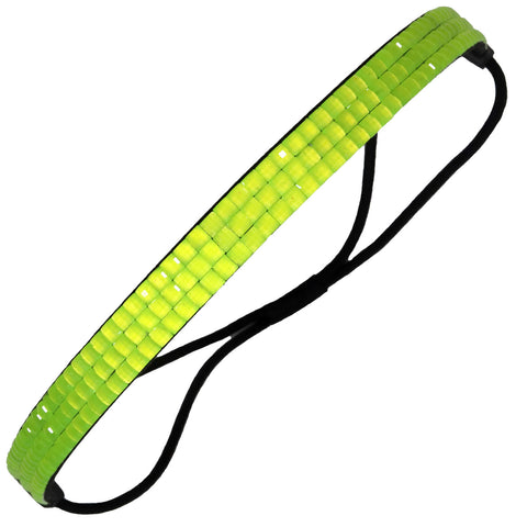 1 Rhinestone Headband Neon Yellow