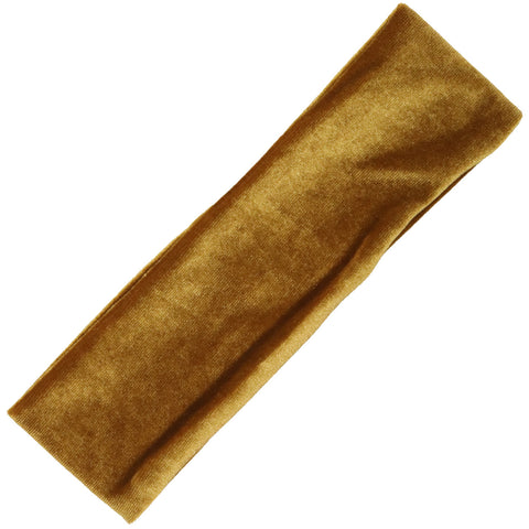 Cotton Headband 1 Soft Stretch Headband Elastic Head Bands Velvet Gold