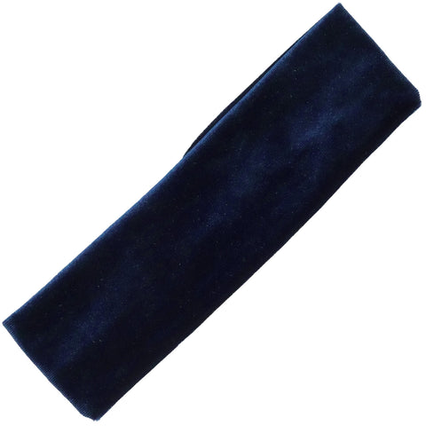Cotton Headband 1 Soft Stretch Headband Elastic Head Bands Velvet Navy