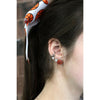 Basketball Post Earrings Rhinestone