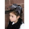 "Gold Glitter Cheer Bow for Girls 7"" Large Hair Bows with Ponytail Holder Ribbon"