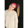 Cotton Headbands 12 Soft Stretch Headband Sweat Absorbent Elastic Head Band Light Pink