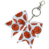 Basketball Sports Keychains for Girls Bow Key Chain