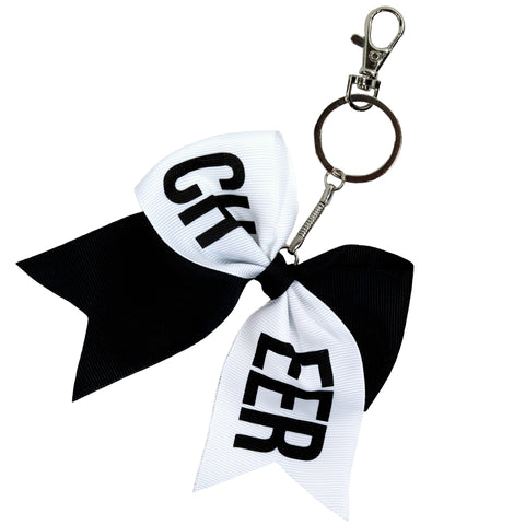 Cheer Sports Keychains for Girls Bow Key Chain