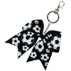 Sports Keychains for Girls Softball Volleyball Basketball Soccer Ribbon Cheer Bow Key Chain