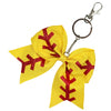 Softball Sports Keychains for Girls Bow Key Chain