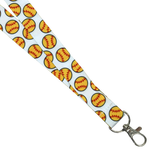 Softball Lanyard Key Chain Holder Softball Gifts for Girls Coach Team Mom