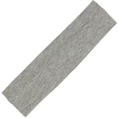 Cotton Headband Soft Stretch Headbands Sweat Absorbent Elastic Head Band Gray