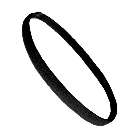 Non Slip Sports Headband Mini Elastic Head Band Athletic Black