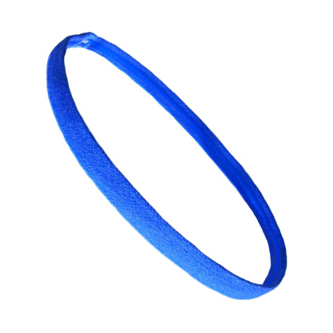 Non Slip Sports Headband Mini Elastic Head Band Athletic Blue