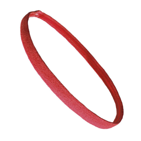 Non Slip Sports Headband Mini Elastic Head Band Athletic Burgundy