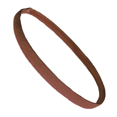 Non Slip Sports Headband Mini Elastic Head Band Athletic Brown