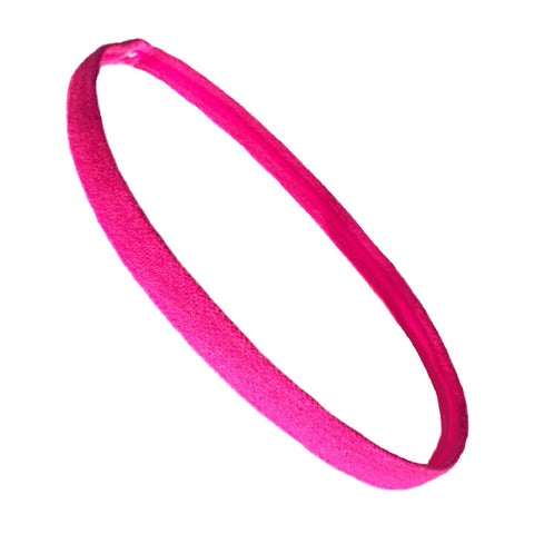 Non Slip Sports Headband Mini Elastic Head Band Athletic Hot Pink