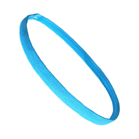 Non Slip Sports Headband Mini Elastic Head Band Athletic Light Blue