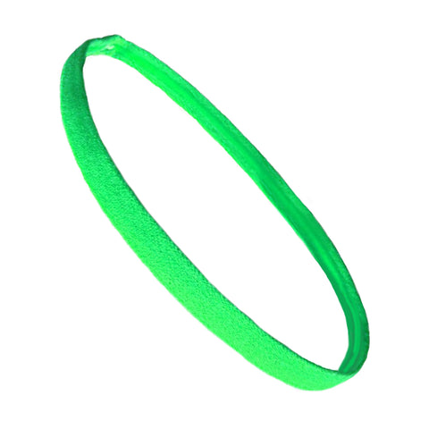 Non Slip Sports Headband Mini Elastic Head Band Athletic Lime