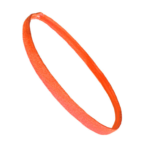 Non Slip Sports Headband Mini Elastic Head Band Athletic Neon Orange