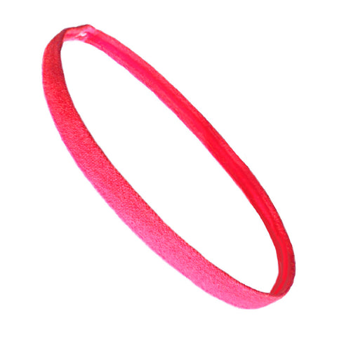 Non Slip Sports Headband Mini Elastic Head Band Athletic Neon Pink