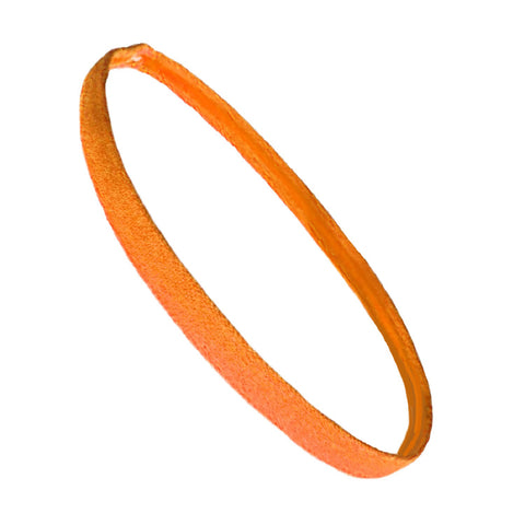 Non Slip Sports Headband Mini Elastic Head Band Athletic Orange