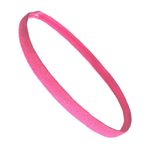 Non Slip Sports Headband Mini Elastic Head Band Athletic Medium Pink