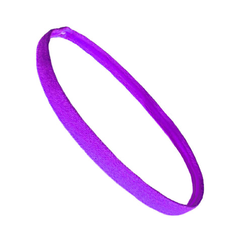 Non Slip Sports Headband Mini Elastic Head Band Athletic Purple