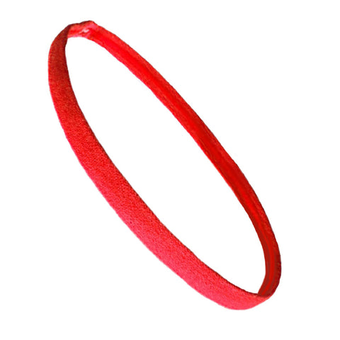 Non Slip Sports Headband Mini Elastic Head Band Athletic Red