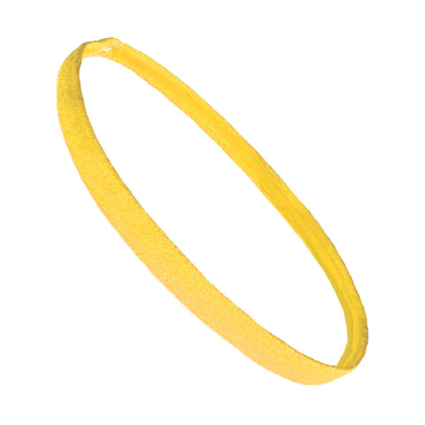 Non Slip Sports Headband Mini Elastic Head Band Athletic Yellow