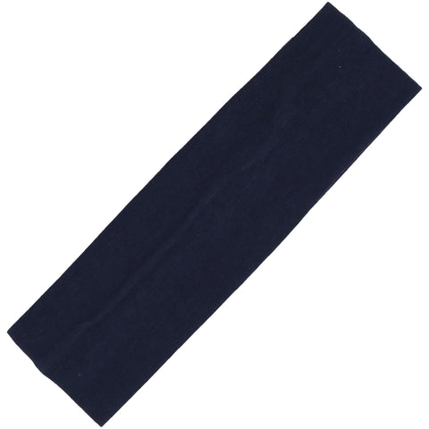 Cotton Headband Soft Stretch Headbands Sweat Absorbent Elastic Head Band Navy