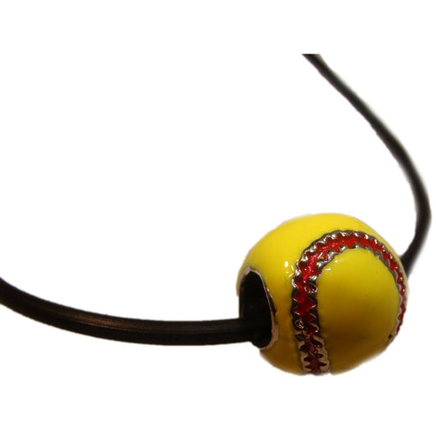 Softball Necklace Enamel