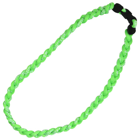 Braided Sports Necklace Softball Necklaces Titanium Power Necklace Neon Green