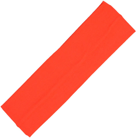 Cotton Headband Soft Stretch Headbands Sweat Absorbent Elastic Head Band Neon Orange