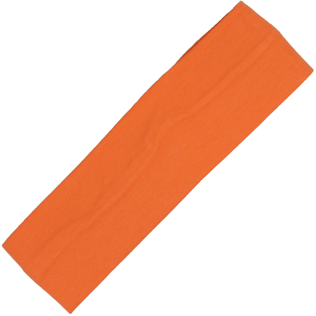 Cotton Headband Soft Stretch Headbands Sweat Absorbent Elastic Head Band Orange