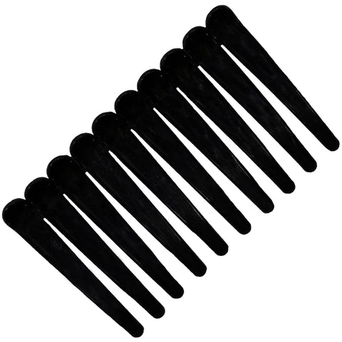 10 Styling Alligator Hair Clips Black