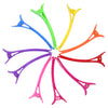 10 Styling Alligator Hair Clips Rainbow