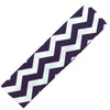 Cotton Headband Soft Stretch Headbands Sweat Absorbent Elastic Head Band Chevron Purple
