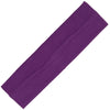 Cotton Headband Soft Stretch Headbands Sweat Absorbent Elastic Head Band Purple