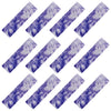 Cotton Headbands 12 Soft Stretch Headband Sweat Absorbent Elastic Head Band Tie Dye Purple