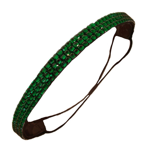 1 Rhinestone Headband Green