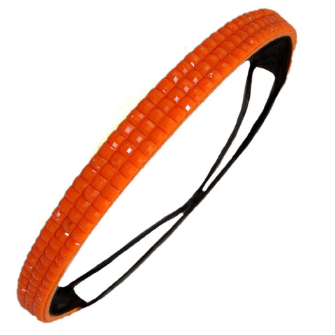 1 Rhinestone Headband Neon Orange